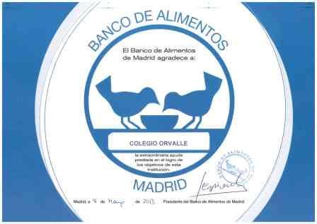 Diploma Banco de alimentos