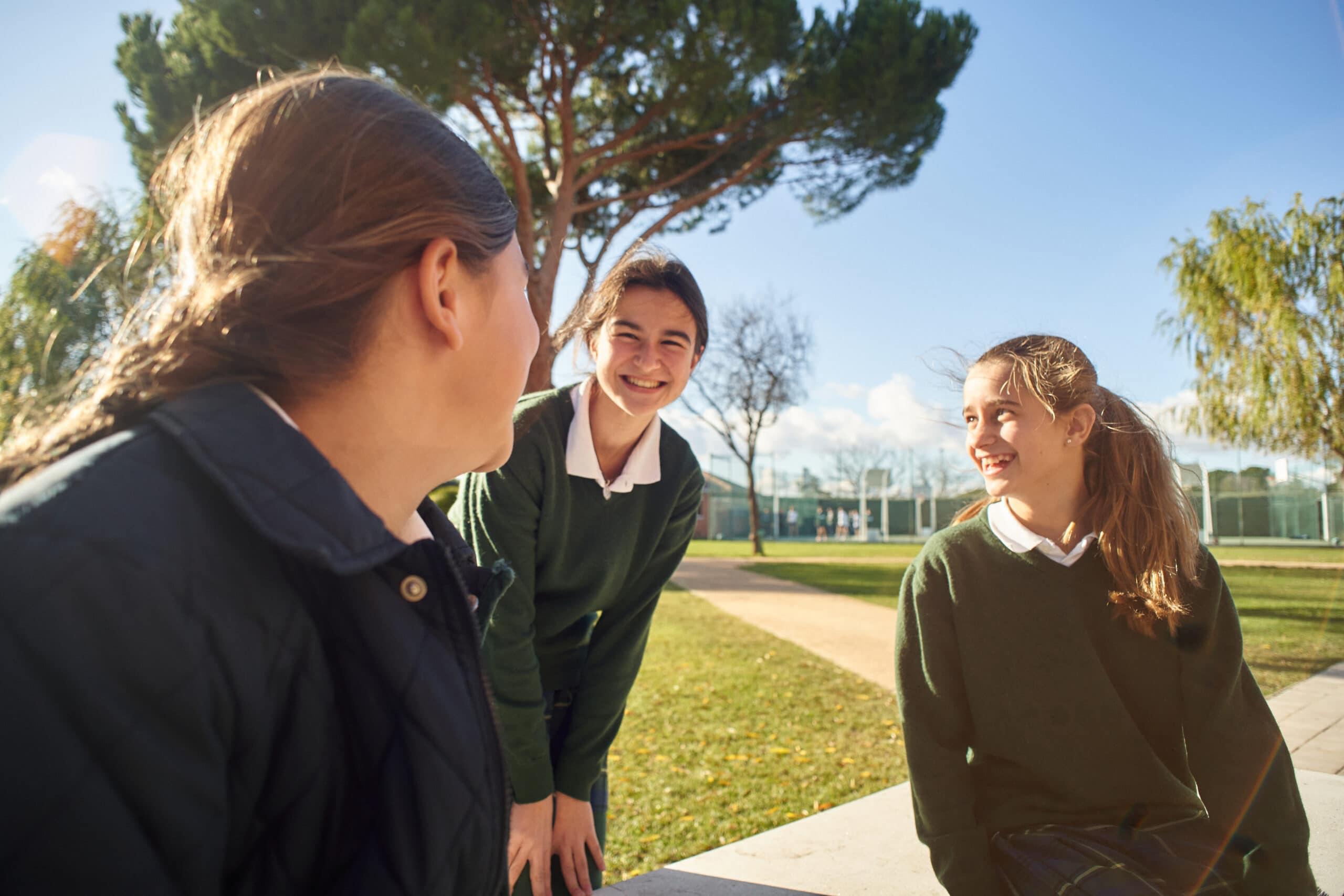 Alumnas en el Colegio Orvalle