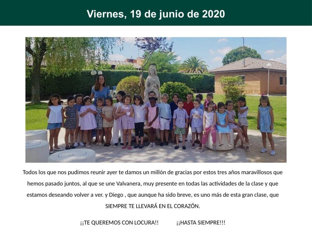 Diario de confinamiento 3o Infantil B 0114