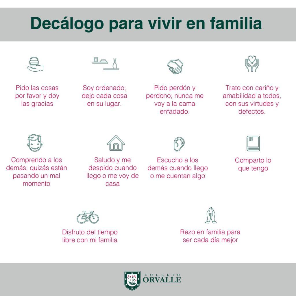 Decálogo para vivir en familia